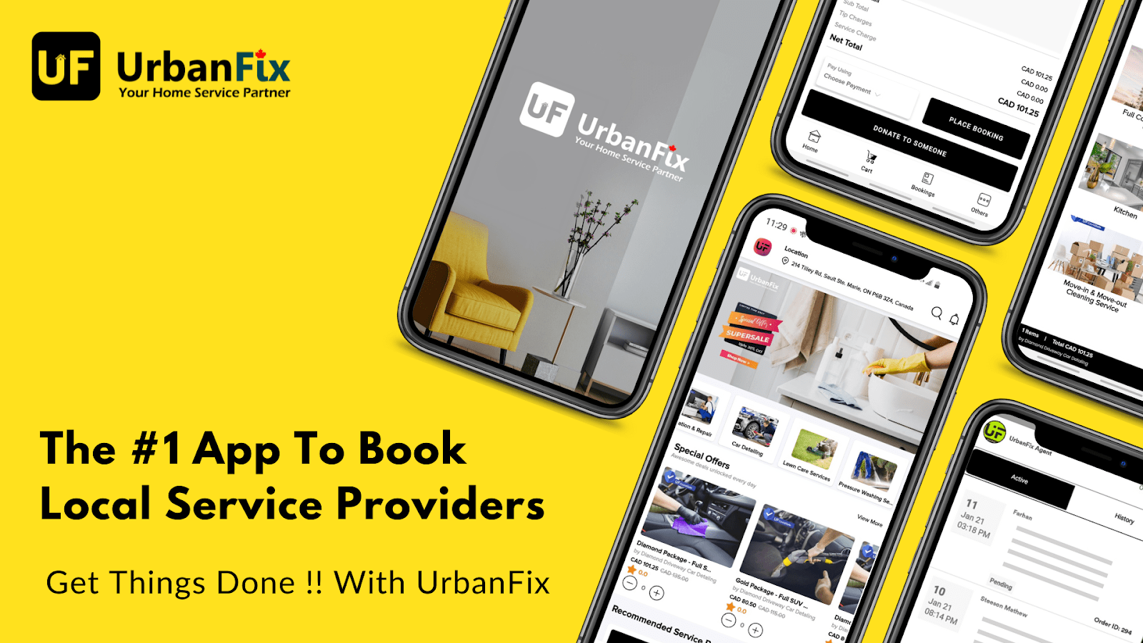 UrbanFix: The #1 app to book local service providers