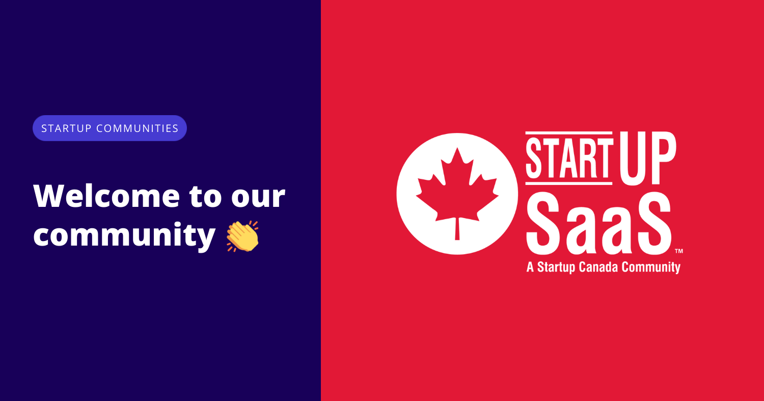 Startup SaaS joins Startup Canada's Startup Communities